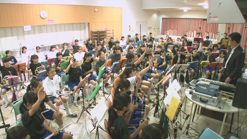 DVD「植田中・玉谷先生の生徒と創り上げる合奏指導」の一場面